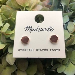 NWT Madewell rose gold stud earrings